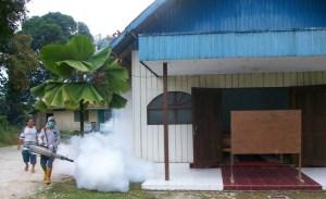 Fogging di Gereja